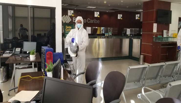Sistema integral para  desinfeccion COVID-19